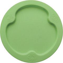 Plato de silicona plano verde