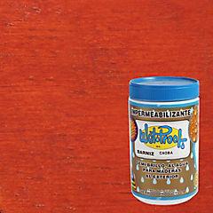 Barniz impermeabilizante semibrillante 1/4 gl Caoba
