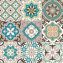 Sticker autoadhesivo Alhambra 9 unidades 15x15 cm