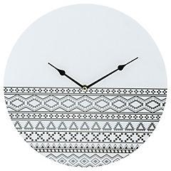 Reloj mural 30X30 cm Blanco/negro