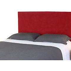 Respaldo de cama 2 plazas liso rojo