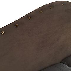 Respaldo de cama 2 plazas iris tachas chocolate
