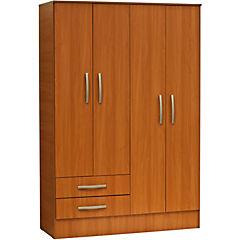 Closet 77,5 X 48,5 X 182,5 + 4 puertas + 2 cajones melamina peral