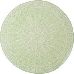 Alfombra Odette verde Agua 150 cm