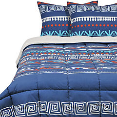 Plumon Sherpa king Estampado Azul