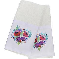 Set 2 toallas Bordeprint 30x45 cm blanco