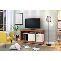 Rack TV 67,5X120X37 cm Aglomerado terra/blanco