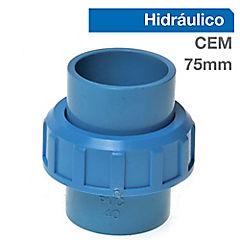 Unión americana PVC presión 75mm cementar