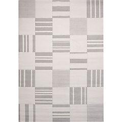 Alfombra  200x290 cm cuadros gris