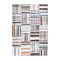 Alfombra 160x230 cm cuadros multicolor