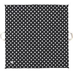 Colchoneta de espuma cruces negra 105x105 cm