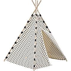 Carpa tipi algodón cruces negras 160x115x115 cm
