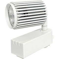 Foco led para riel monofasico 7w luz calida