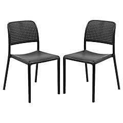 Set 2 sillas costa bistrot grafito