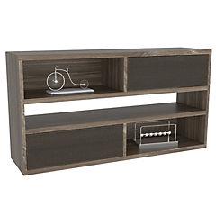 Módulo 5 estantes 110x30x58 cm siena/wengue