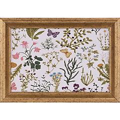 Cuadro flores verde 35x25 cm
