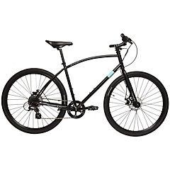 Bicicleta Hibrida Aro 28 negro. 8 velocidades, talla M