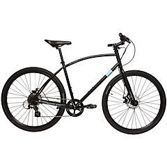Bicicleta Hibrida Aro 28 negro. 8 velocidades, talla L