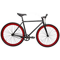 Bicicleta Urbana Aro 28 negro, ruedas rojas talla XL