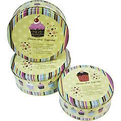 Set de 3 latas para galletas Cupcake