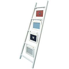 Escalera con Marcos 120x3x38.5 cm 4 fotos 13x18 cm Blanco