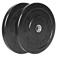 Par disco olímpico caucho 10 kilogramos
