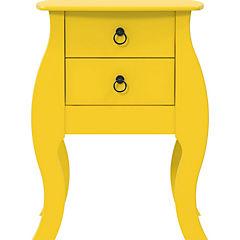 Velador 2 cajones 48x40x67 cm amarillo