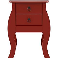 Velador 2 cajones 48x40x67 cm rojo