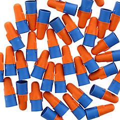 Conector de resorte naranjo/azul 25 unidades