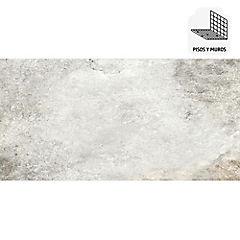 Porcelanato todo masa 37,5x75 cm gris 1,69 m2