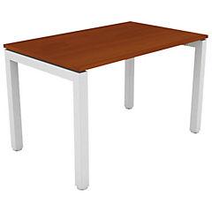 Escritorio 120X60X75 acero y melamina color blanco/cerezo