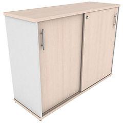 Gabinete puertas correderas 1200 blanco/maple