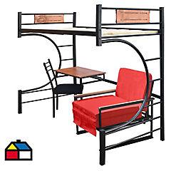 Camarote 1 plaza 160x110x190 cm Metal