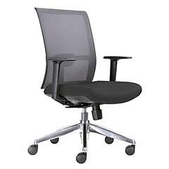 Silla ejecutiva minimal plus asiento negro respaldo gris