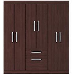 Closet  6 puertas 1 cajon 1 zapatera caoba