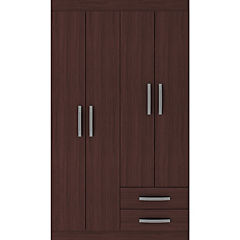Closet  4 puertas 2 cajones  caoba