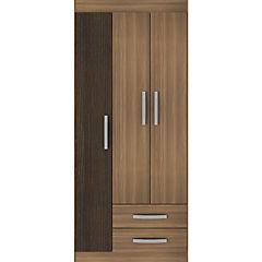 Closet  3 puertas 2 cajones bicolor
