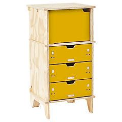 Cajonera 40x45x100 cm amarillo