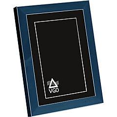 Marco con detalles plateados 20x25 cm azul