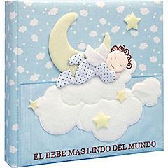 Libro Bebé con caja recuerdos celeste