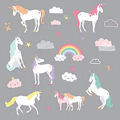 Sticker para muros Unicornios
