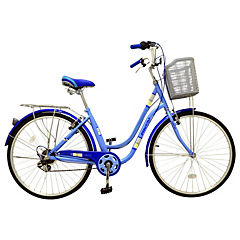 Bicicleta 26 City Bike celeste