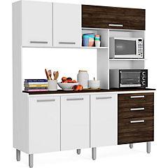 Mueble para cocina blanco/petroleo 196x182x53 cm - Sodimac.com