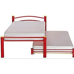 Divan cama con respaldo 1 plaza Rojo