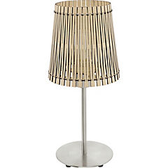 Lámpara de mesa sendero madera 60W E27