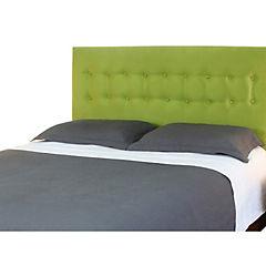 Respaldo de cama king botone verde pistacho
