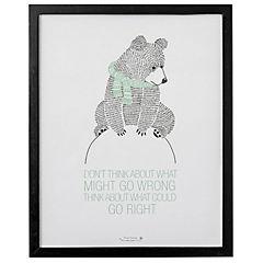 Cuadro 50x40 cm oso madera