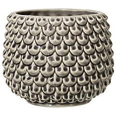 Florero 16,5x13 cm ceramica gris