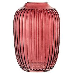 Jarrón 10x14 cm vidrio rojo