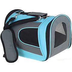 Bolso de transporte para perros y gatos azul talla S